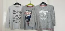 Boys Kids Rebel long Sleeve tops x 3 Grey - 4-6yrs