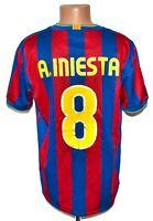 BARCELONA SPAIN 2009/2010 HOME FOOTBALL SHIRT JERSEY NIKE SIZE L #8 INIESTA