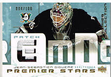 03-04 UD Premier Collection STARS PATCH xx/100 Made! J.S. GIGUERE - Ducks