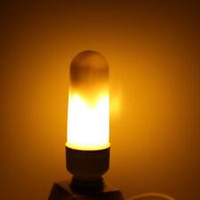 LED Flame Effect Fire Light Corn Bulb E27 E26 5W Simulated Nature Flicking Lamp