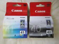 2 original Canon Druckerpatronen Tintenpatronen PG-40 Black CL-41 Color Rechnung