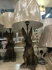 Hare Table Lamp Height: 67cm  gorgeous and adorable  HARE shaped Large!! Bronze