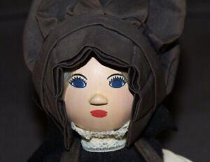 Vtg MARIE COSTELLO Artist Doll PEDDLER Wooden Head FOLK ART