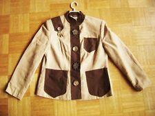 @Unique@ Blazer Canvas Beige Brown Country Uniform gr. 42 UK 16 US 14 Size XL