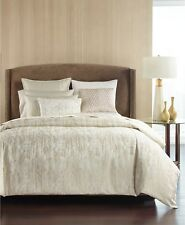 Hotel Collection King Duvet Cover Opalescent Textured Oyster Bedding $420 E96056