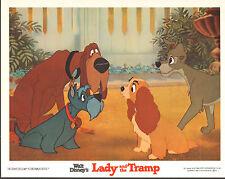Lady And The Tramp original lobby card 11x14 Disney movie poster