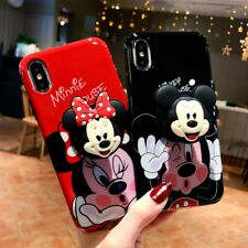 For iPhone XS Max XR 6S 7 8+ Cute Disney Minnie Case Cover & Airbag Stand Holder