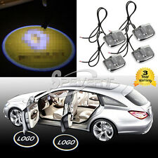 4X NO Hole Drill Car LED Door Logo Projector Ghost Shadow Laser Light F Renault