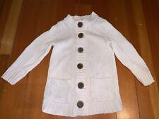 Crewcuts Toddler Girl Light Ivory Cardigan with Buttons, Size 2T