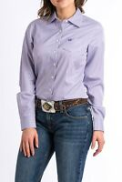 Cinch Women's Lavender & White Striped Button Up Western Shirt MSW9164087