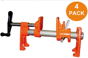 Brand New- 4 Pack Set Pony Tools #55 3/4 Inch. Pipe Clamp- Workshop Tools
