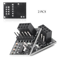 2pcs Socket Adapters Plate Boards for 8 Pin NRF24L0+Wireless Transceive Module v