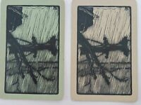 PAIR OF VINTAGE  BOATS, SWAP PLAYING CARDS ,