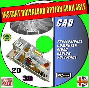 2D + 3D PRO CAD ENGINEERING MODELING SUITES DESIGN SOFTWARE & MANUALS NEW FOR PC