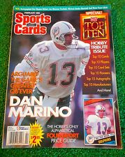 DAN MARINO COVER SPORTS CARDS FEB 1995 HOBBY TRIBUTE ISSUE TOP 10'S NO LABELS