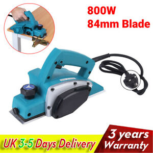 800W Professional Electric Wood Planer Hand Power Plane Machine 84mm Blade Guide
