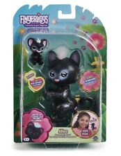 New WowWee Fingerlings Light-Up Baby Black Panther Allec Black Glitter 5A