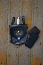 Black Leather Belt Pouch with Dagger - Renaissance Fair, Larp