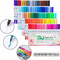 Aquarellstifte Dual Brush Pen 36-100PCS/Set Filzstifte Pinselstifte Fasermaler