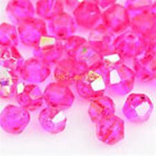 100pcs swarovski Crystal 4mm 5301# Bicone Beads rose ab