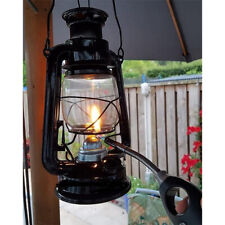More details for  vintage decor ®  hurricane lantern 10 inch premium classic oil lamp black