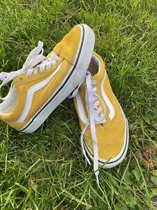 Vans Trainers, Old Skool, Vivid Yellow, Uk Size 3, Nice Item
