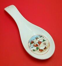 Vintage Christmas Spoon Rest Ceramic  Taiwan