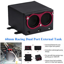 Square Oil Collecting Tank Dual Port External Sump For Fuel Pumps w/AN8 Fitting