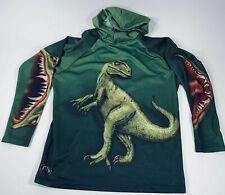 Mouthman Green T-Rex Raptor Dino Dinosaur Hoodie Sport Shirt Tshirt Size L