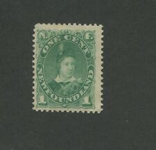 1896 Newfoundland Edward Prince of Whales 1 Cents Postage Stamp #45