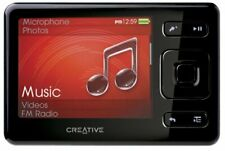 Creative ZEN Black 4 GB MP3 Player with FM Radio Voice Recorder SDHC Memory Slot