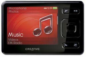 Creative ZEN Black 4 GB MP3 Player with FM Radio Voice Recorder SDHC Memory Slot