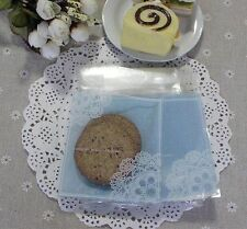 100x Blue plastic favour bags lolly cookie pastry wedding birthday party favours