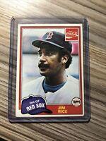 """JIM RICE 1981 TOPPS COCA COLA #2 BOSTON RED SOX UNRELEASED CARD """"RARE"""""""