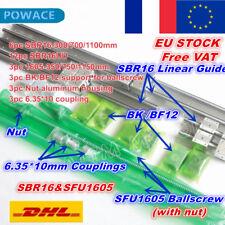 【FR】SBR16 Linear Rail de guidage+SFU1605 350/750/1150mm Ballscrew +Nut&3 BK/BF12