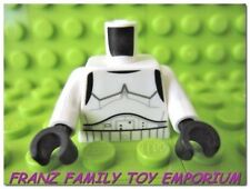 New LEGO Minifig Torso Star Wars White Imperial Trooper Black Hands Body Part