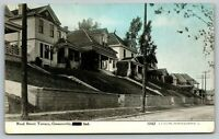 Connersville Indiana~Reed Street Terrace~Homes on Hillside~Wall~1910 CU Williams