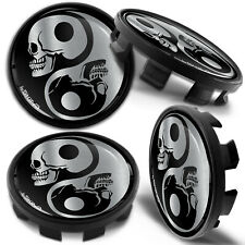 4 x 68mm - 65mm Alloy Wheel Centre Hub Center Rim Caps Compatible with BMW Skull