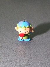 Hallmark 2010 Sweet Treat Elf Keepsake Miniature Ornament By Becky Hottel