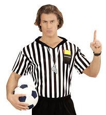 Referee T-Shirt Fancy Dress Shirt Top Football Soccar Ref Sport Xl Mens Adult