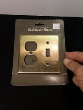 Baldwin Toggle W/ Electrical Outlet Brass Light Switch Plate Cover New