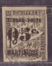 1891-92 French colony stamps, Martinique 05c on 15c used SC 23