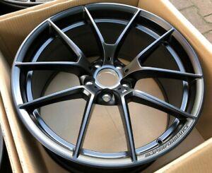 """BMW OEM M4 CS Wheels Black alloy rims 20""""R 19""""F M3 m4 F80 F82 F83 Full SET 763M"""