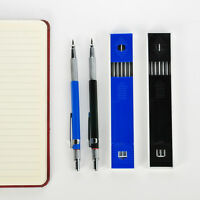 2B 2mm Lead Holder Automatic Draughting Mechanical Drafting Pencil 12Pc Leads
