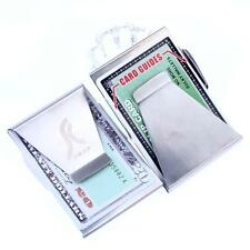 2X Unisex Ultra Slim Steel Money Clip Double Sided Credit Card Holder Wallet Bф