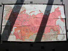 Wandkarte Sowjetunion nach 1939 197x120c 1970 russia vintage wall map card chart