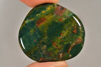 BLOODSTONE Flat Stone 3.5cm 8g Healing Crystal Palm Tumbled COURAGE STRENGTH