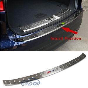 Fit Jaguar F-Pace 2017 2018 Stainless Steel Rear Outer Bumper Guard Plate Trim
