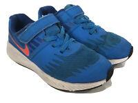 Nike Star Runner Boys Kids Shoes Sneakers Blue 92144-408 Sz 13C Hook & Loop