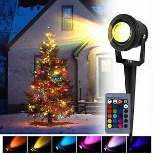 LED Gartenspots RGB Projecteurs de Jardin avec Télécommande Eclairage Extérieur